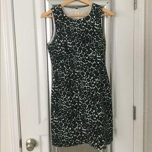 J. Crew Factory green leopard print dress
